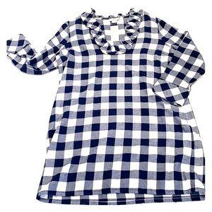 Vineyard Vines flannel Buffalo checked dress